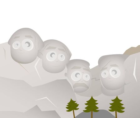 cartoon version of mount rushmore Stock Vector - 17841393