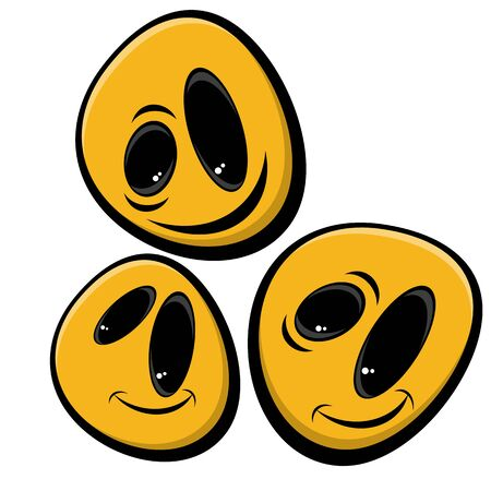 amuse: funny smiley faces Illustration