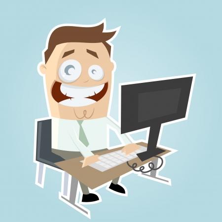 grappige cartoon zakenman Stock Illustratie