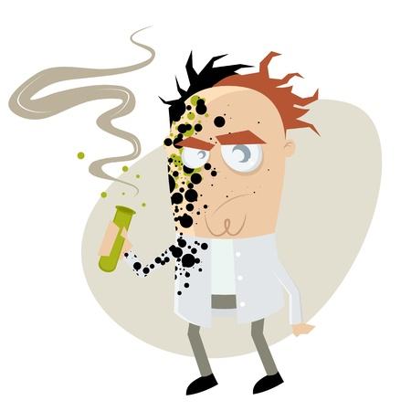gescheitertes Experiment cartoon Illustration
