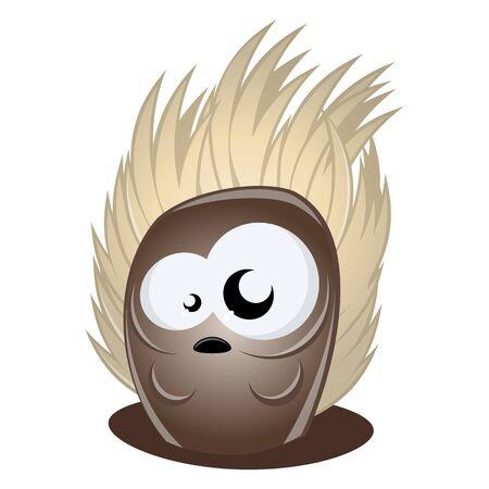 funny cartoon hedgehog Vector