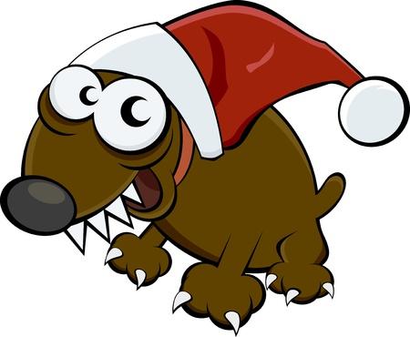 christmas motif: christmas dog Illustration
