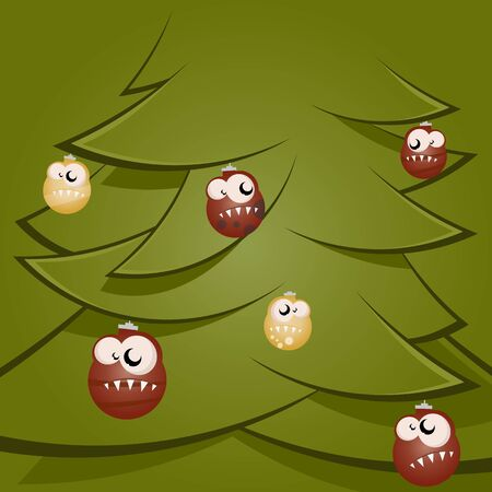 funny christmas balls Stock Vector - 17841373