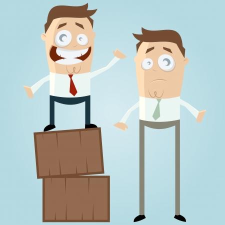 grote en kleine zakenlui Stock Illustratie