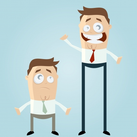 big and small business men Vector