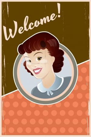 retro woman background Stock Vector - 17963274