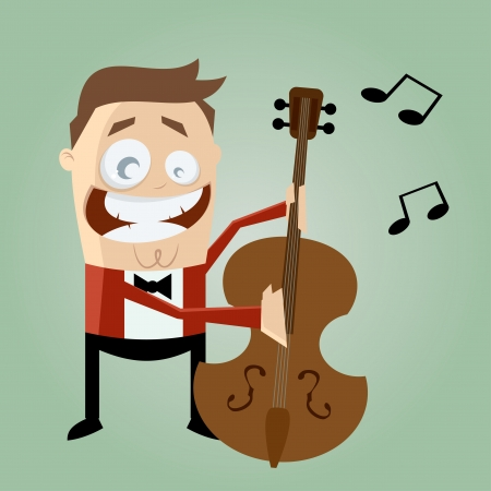 funny bass player Stock Vector - 20111590