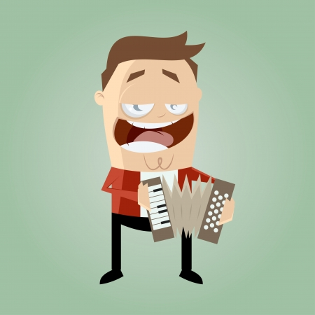 funny accordion player Stock Vector - 20111556