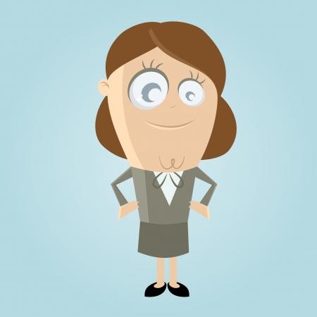 happy business woman Stock Vector - 20111689