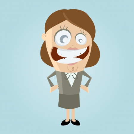 smiling business woman Stock Vector - 20111703