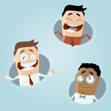 happy business cartoon men Stock Vector - 20111747