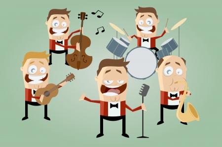 banda de música de la historieta divertida