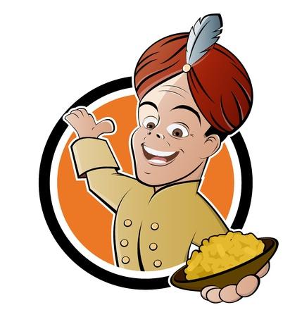 Signe drôle de maison curry Banque d'images - 20111728