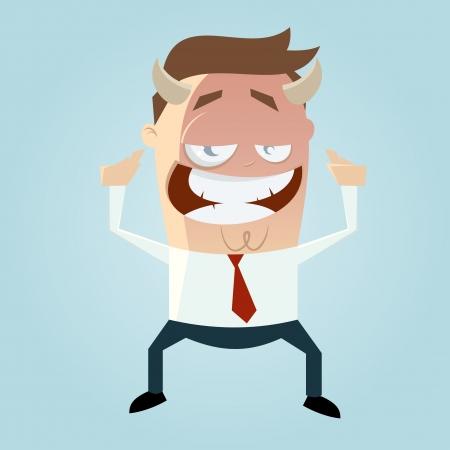 amused: evil business cartoon man
