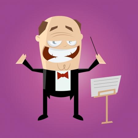 grappige cartoon dirigent