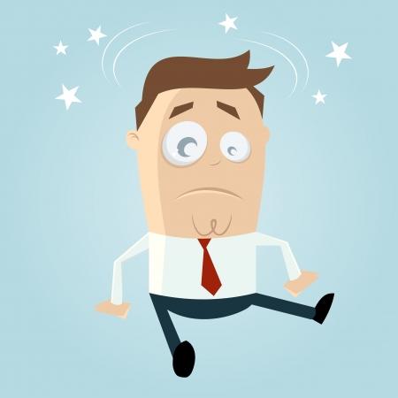 cartoon man is fallen Stock Vector - 20111694