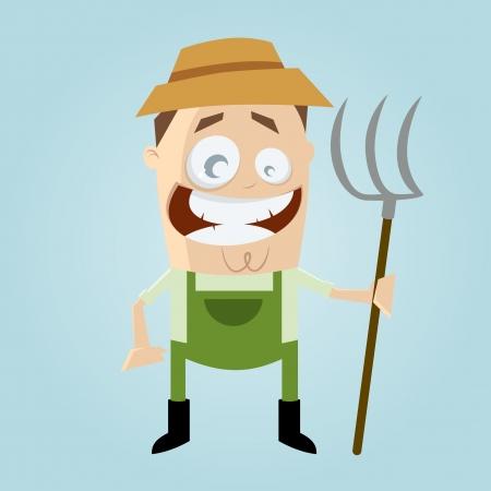 muck: funny cartoon farmer Illustration