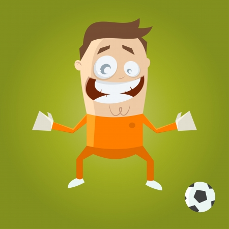 funny cartoon goalkeeper Vector