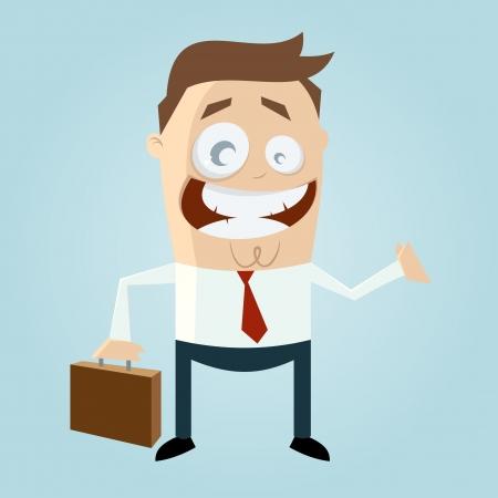 cartoon man with suitcase Vector