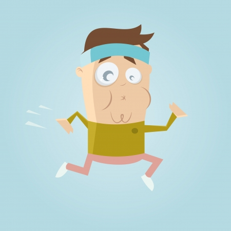 funny cartoon jogger Illustration