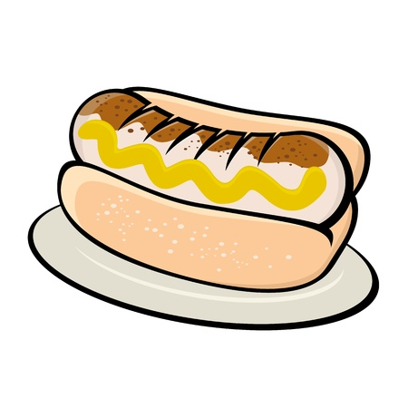 bratwurst: german bratwurst illustration Illustration