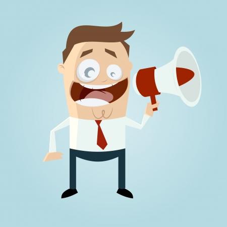 loudhailer: Hombre de negocios con el meg�fono
