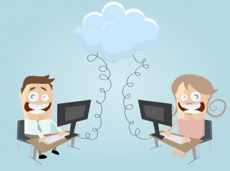 cloud computing people Stock Vector - 20111645