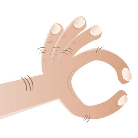 amused: cartoon fingers showing