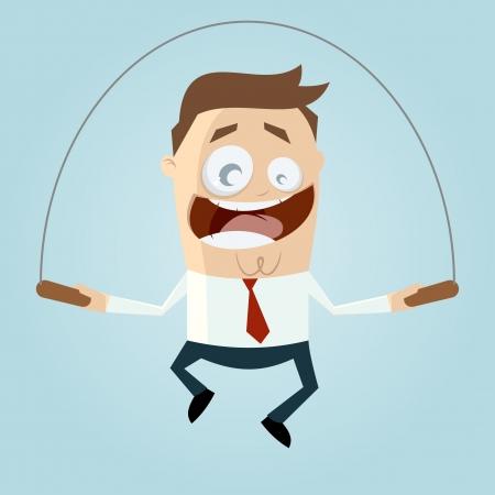 cartoon man is rope jumping Stock Vector - 20111678