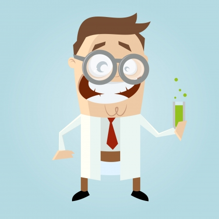 funny cartoon scientist Stock Vector - 20104248