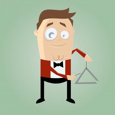 funny cartoon triangle player Stock Vector - 20104227