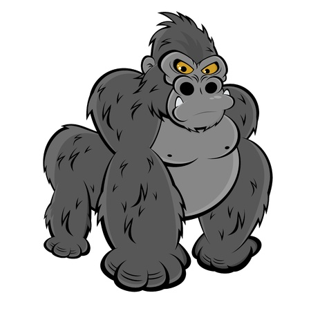 apes: angry gorilla Illustration