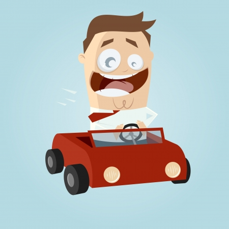 convertible car: business man driving a car
