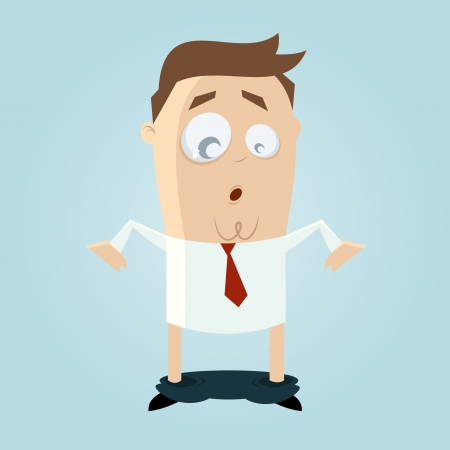 funny cartoon man with dropped pants Vector