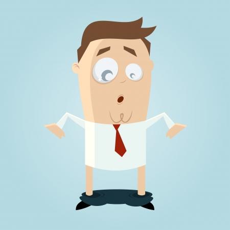 pantalones abajo: hombre divertido de la historieta con los pantalones cayeron Vectores