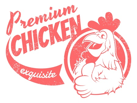 rooster: retro chicken sign