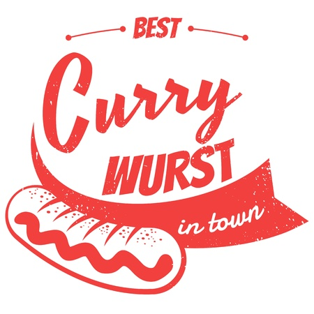 german currywurst Vectores