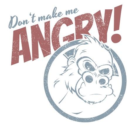 angry cartoon: angry cartoon gorilla