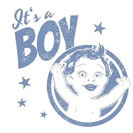 funny boy sign Stock Vector - 21645968