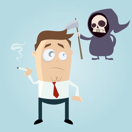 흡연자: grim reaper is waiting for smoker