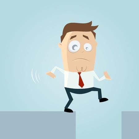 hombre cayendose: Hombre de la historieta en peligro
