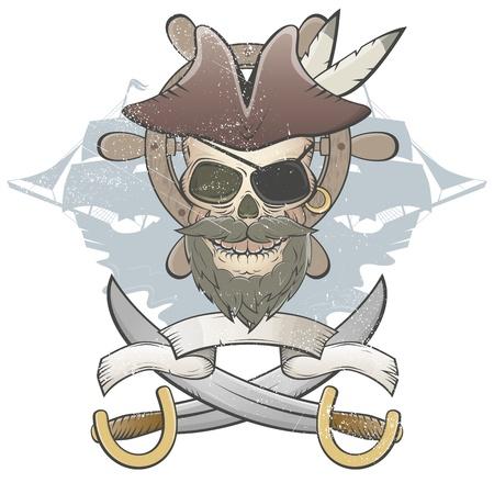 pirate skull: espeluznante calavera pirata