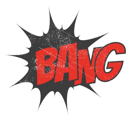 boom: vintage cartoon explosion