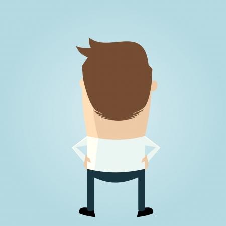 backside of a cartoon man