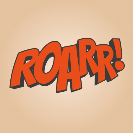 roar cartoon noise