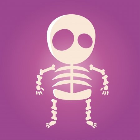 cute cartoon skeleton Vector