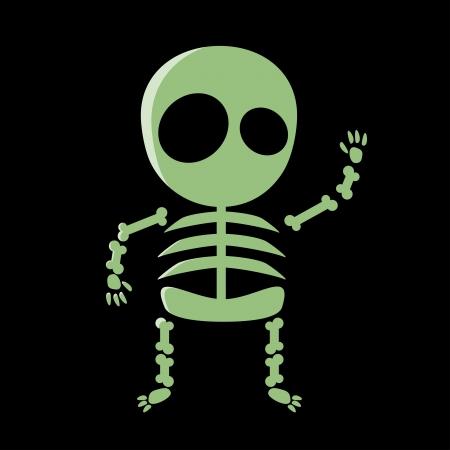 Cute cartoon scheletro Archivio Fotografico - 22469430