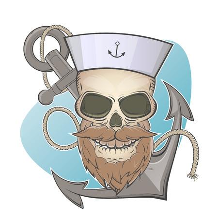 skull and anchor Illustration