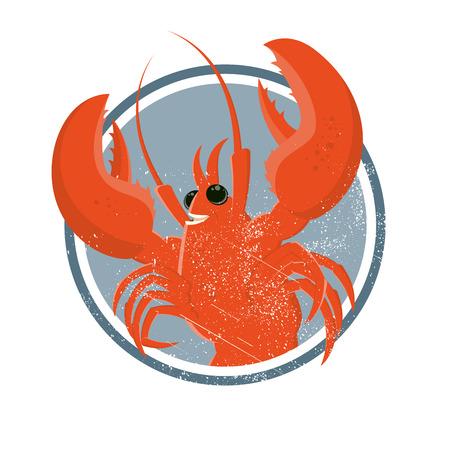 hummer: vintage cartoon lobster