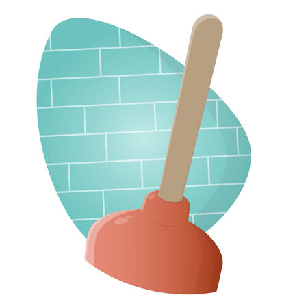plunger: funny cartoon plunger